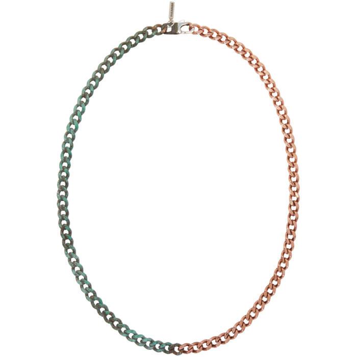 Photo: Kozaburo Copper Half Rusted Necklace