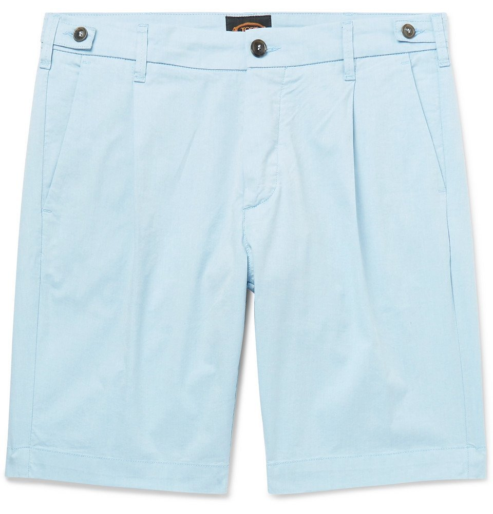 Photo: Tod's - Solaro Cotton-Blend Shorts - Blue
