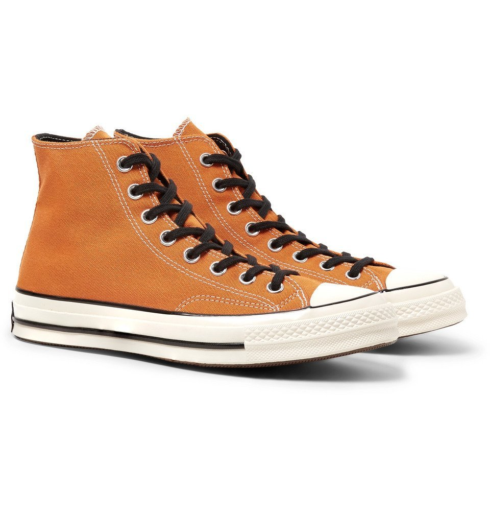 Photo: Converse - 1970s Chuck Taylor All Star Canvas High-Top Sneakers - Orange