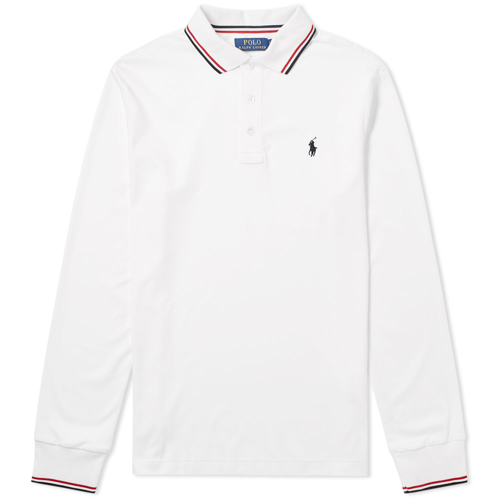 Photo: Polo Ralph Lauren Long Sleeve RWB Tipped Polo