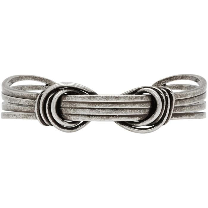 Photo: Saint Laurent Silver Knot Cuff