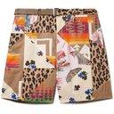 Sacai - Hank Willis Thomas Wide-Leg Logo-Appliquéd Patchwork Twill Shorts - Multi