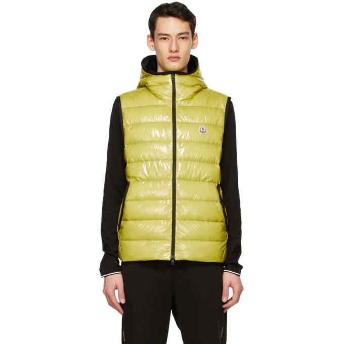 Photo: Moncler Yellow Down Lappe Vest