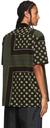 Sacai Brown & Khaki Floral Print Short Sleeve Shirt