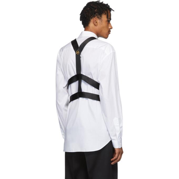 Versace Black Medusa Ribbon Harness