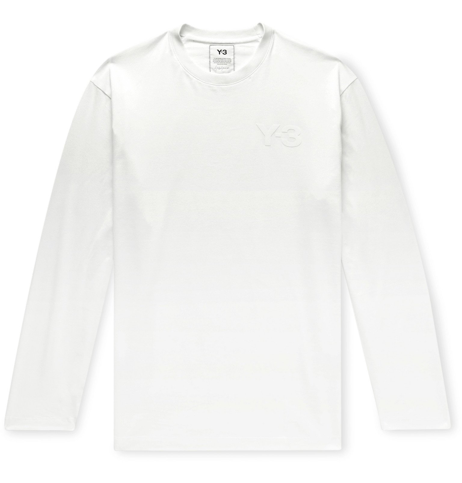 Photo: Y-3 - Logo-Print Cotton-Jersey T-Shirt - White