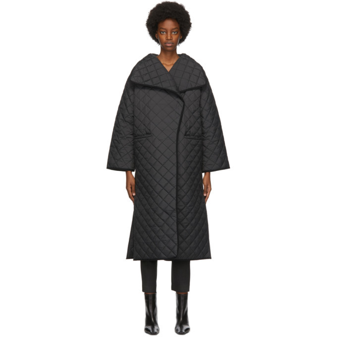 Photo: Toteme Black Quilted Annecy Coat