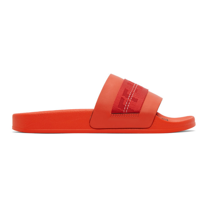Photo: Off-White Red Industrial Slides