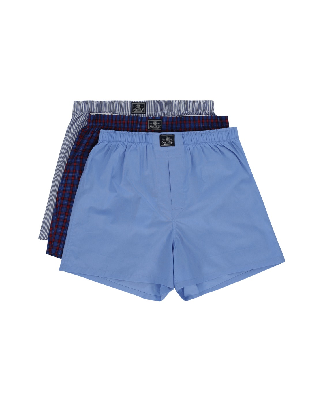 Photo: Polo Ralph Lauren 3 Pack Open Boxers Blue