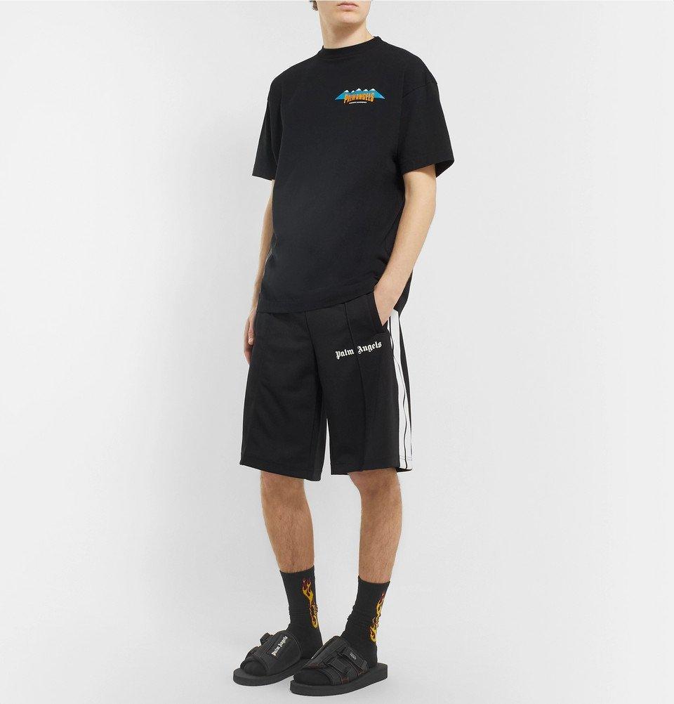Palm Angels - Suicoke Kaw Logo-Print Webbing-Trimmed Nylon Slides - Black