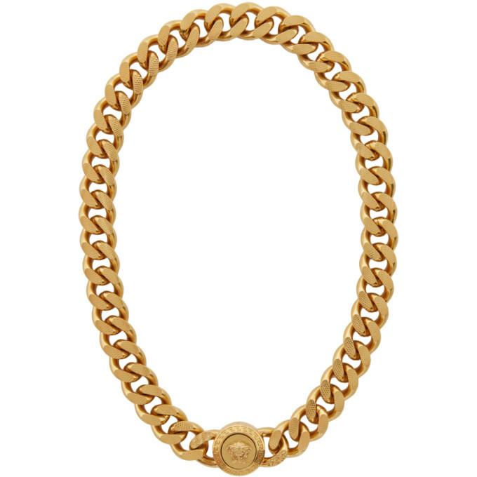 Photo: Versace Gold Chunky Medusa Chain