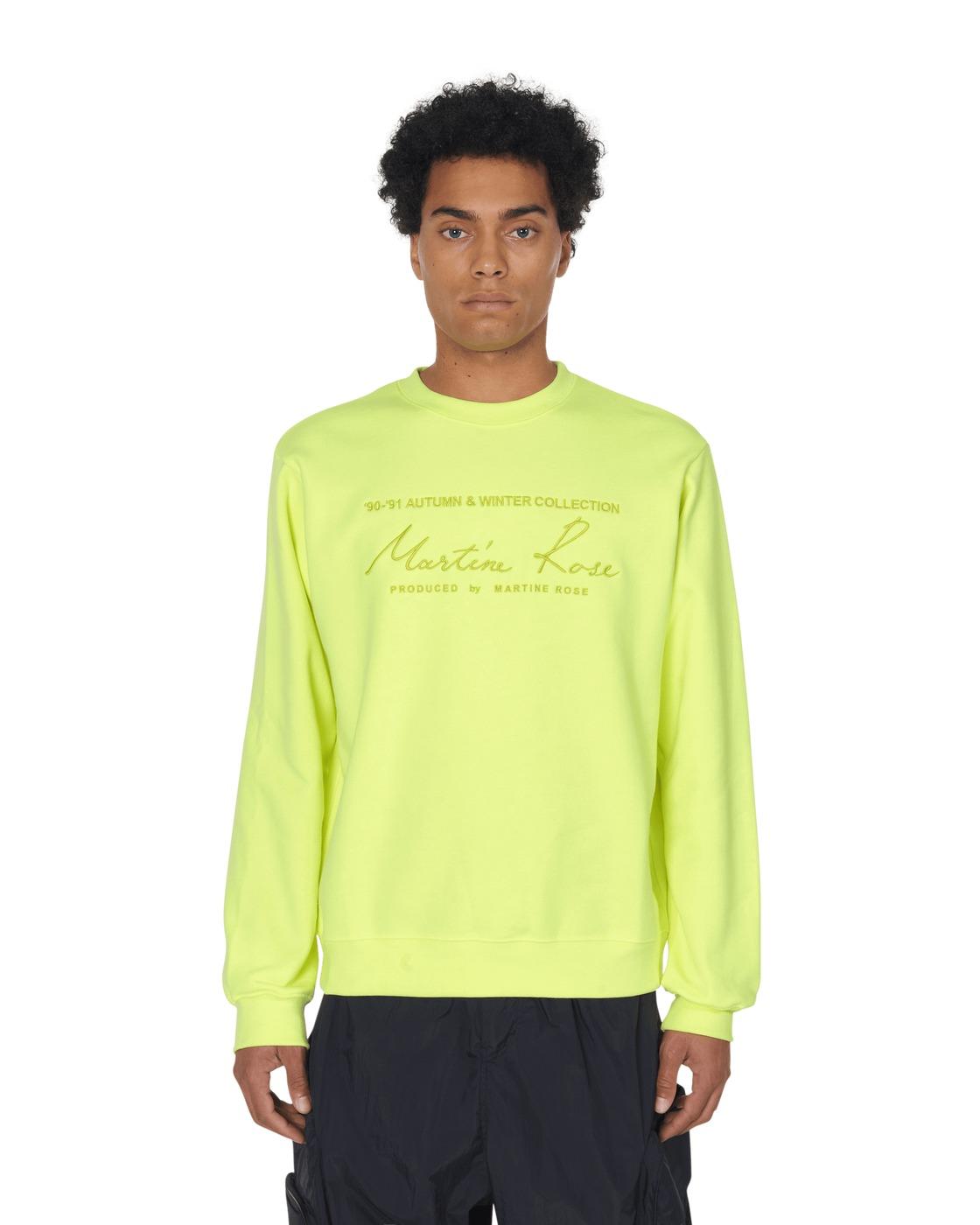 Martine Rose Classic Crewneck Sweatshirt Fluoro