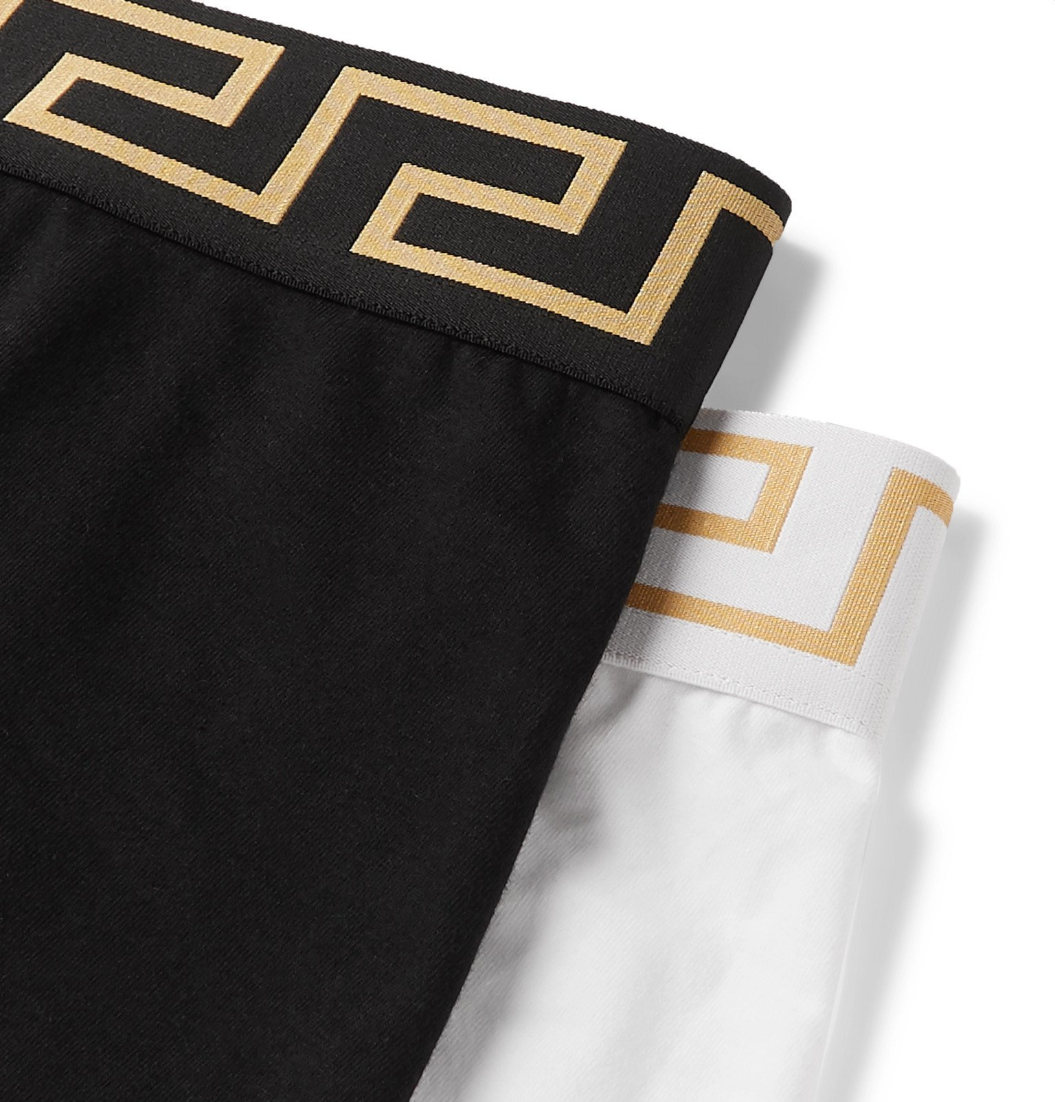Versace - Two-Pack Stretch-Cotton Boxer Briefs - Multi