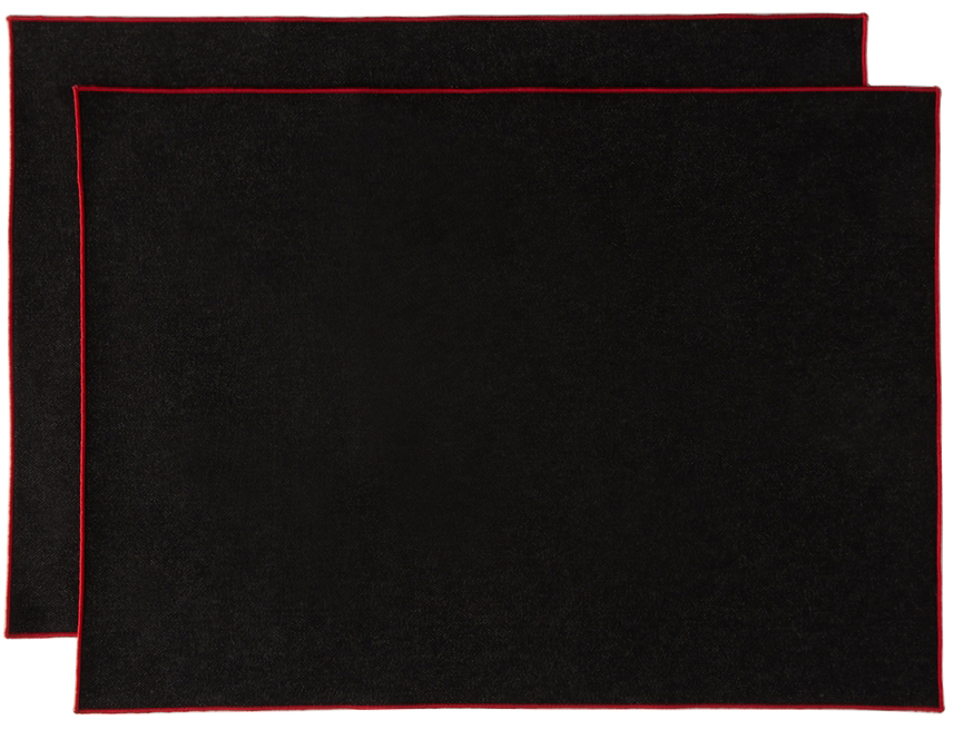 Photo: Lateral Objects Black Denim Frame Placemat Set