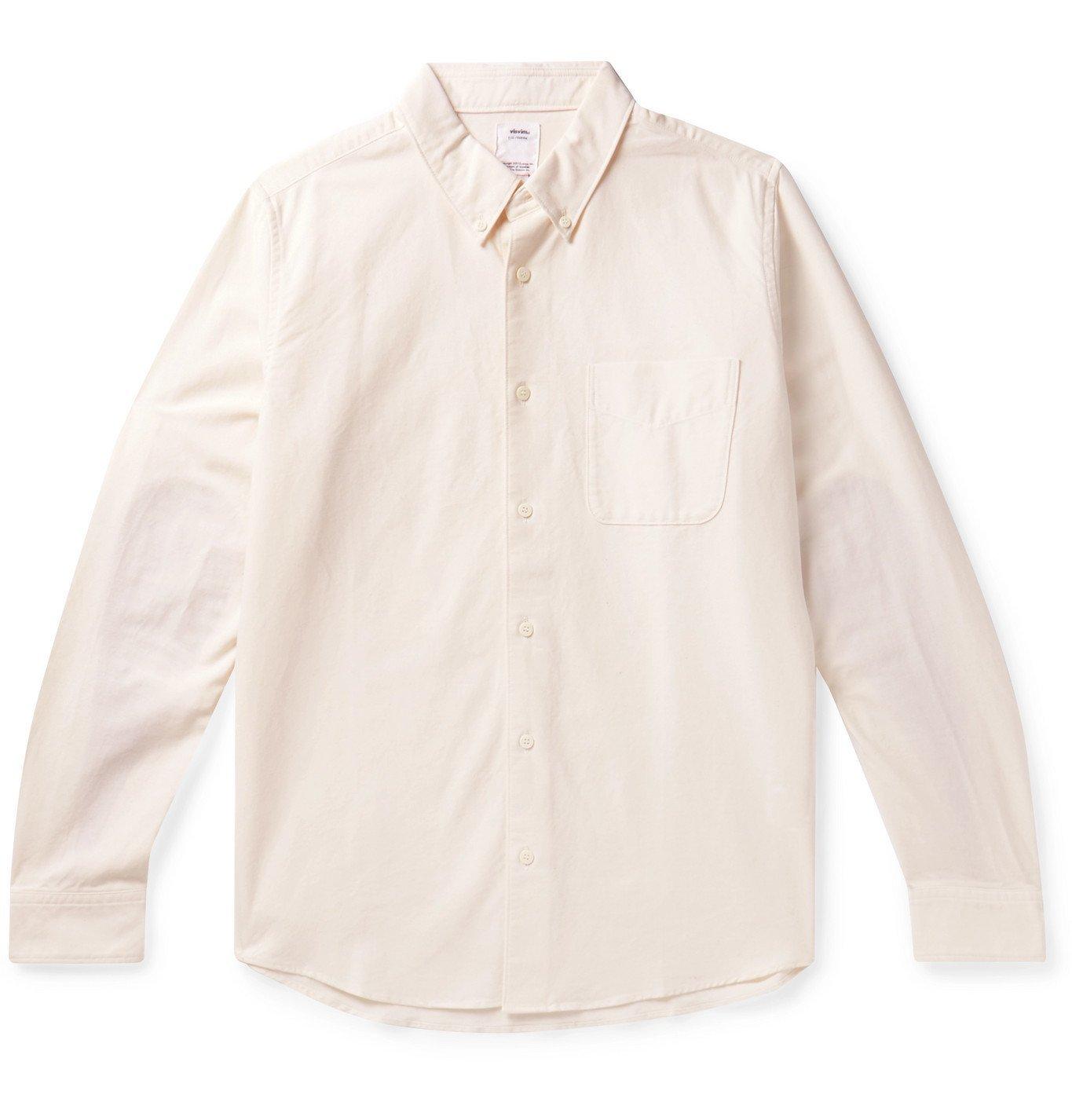 Photo: visvim - Albacore Lungta Button-Down Collar Panelled Cotton Shirt - Neutrals
