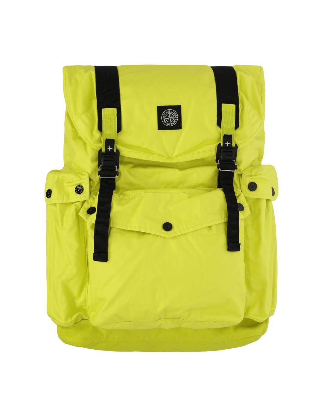 Photo: Stone Island Mussola Gommata Canvas Print Backpack Pistacchio