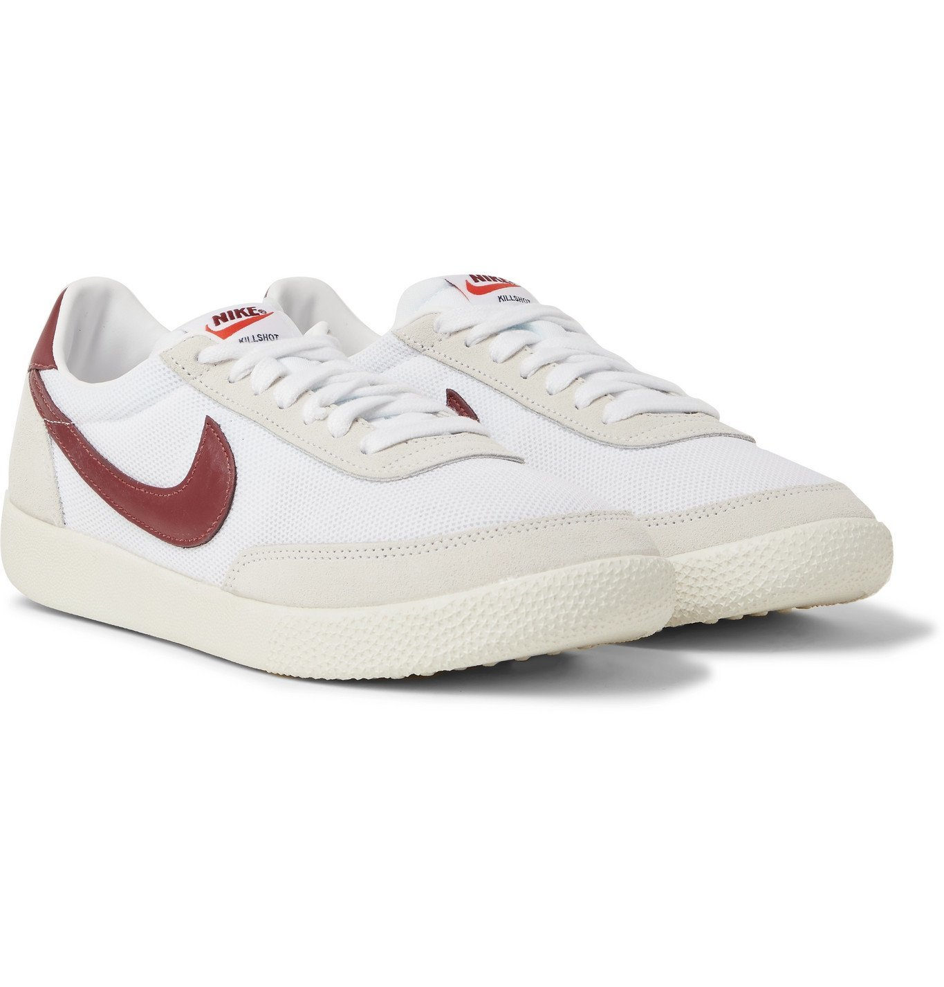 Photo: NIKE - Killshot OG Mesh, Leather and Suede Sneakers - White