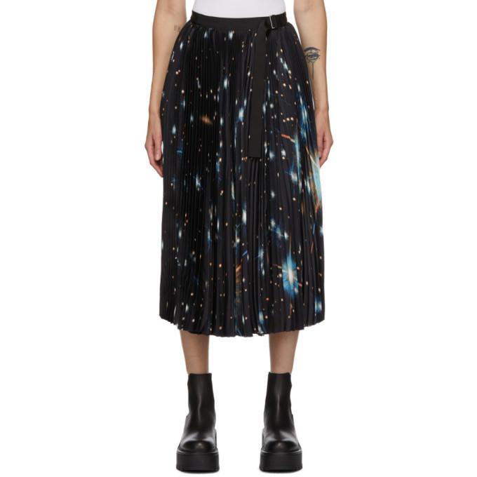 Sacai Multicolor Star Print Pleated Skirt