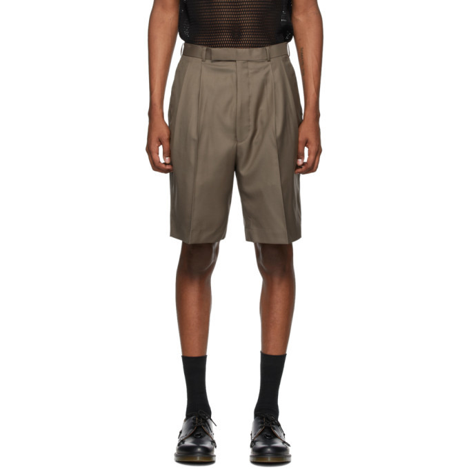 Photo: Johnlawrencesullivan Beige Wool Tucked Shorts
