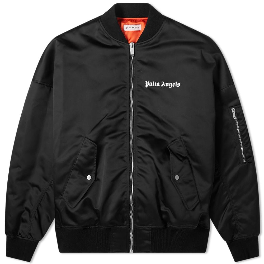 Photo: Palm Angels Logo Bomber Jacket Black
