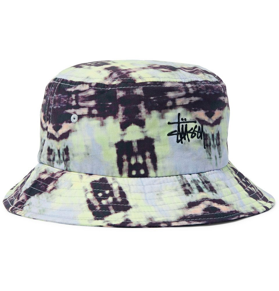 Photo: Stüssy - Leary Logo-Embroidered Tie-Dyed Cotton Bucket Hat - Multi