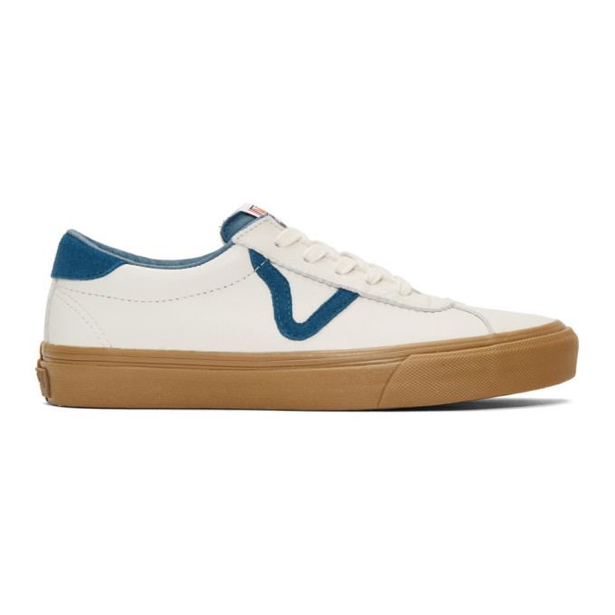 Photo: Vans White and Blue Epoch Sport LX Sneakers