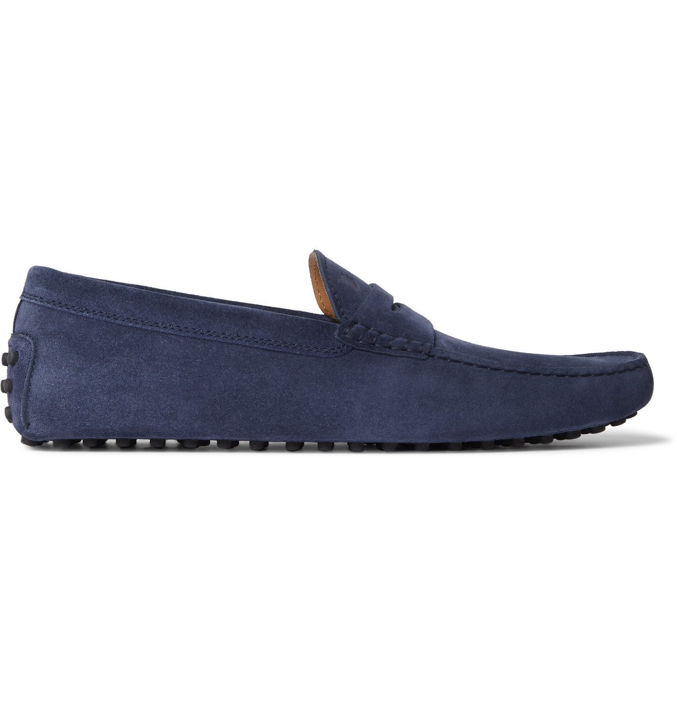 Tod's - Gommino Suede Driving Shoes - Blue