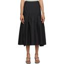 3.1 Phillip Lim Black Shirred Midi Skirt