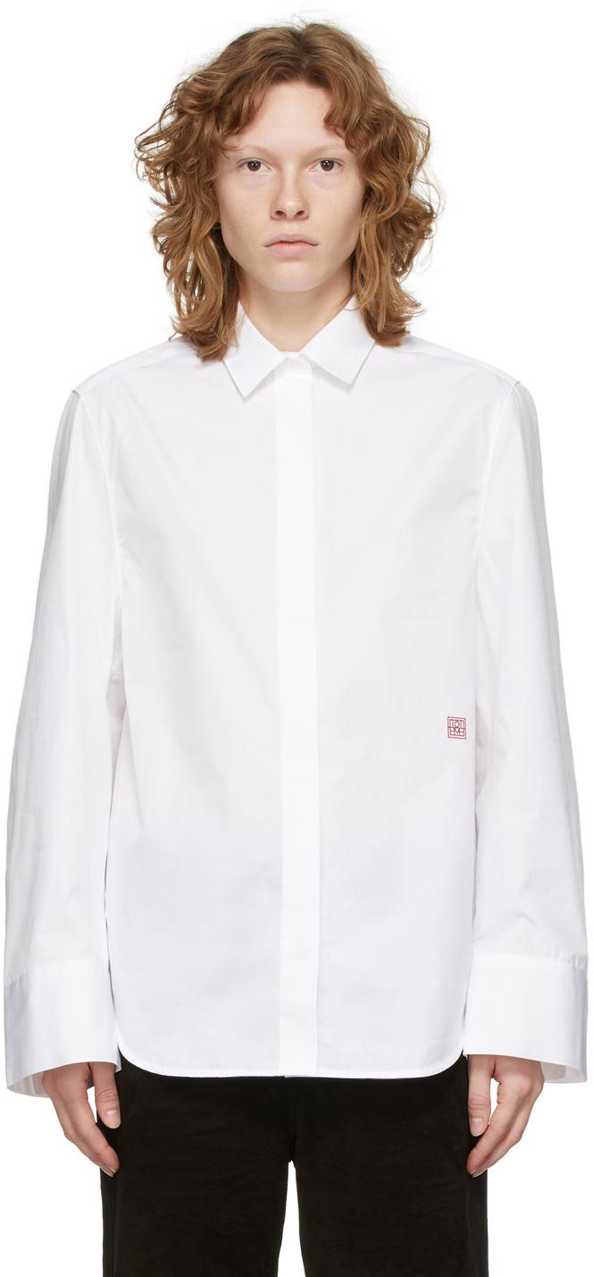 Photo: Totême White Poplin Wide Sleeve Shirt