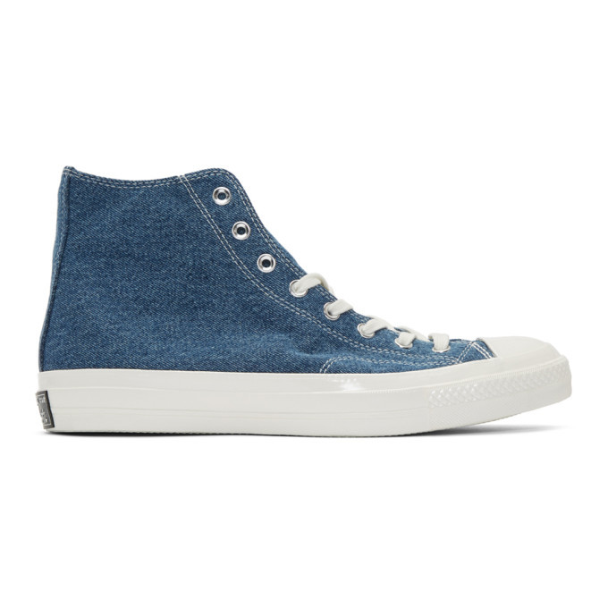 Photo: Converse Blue Denim Chuck 70 Low Sneakers