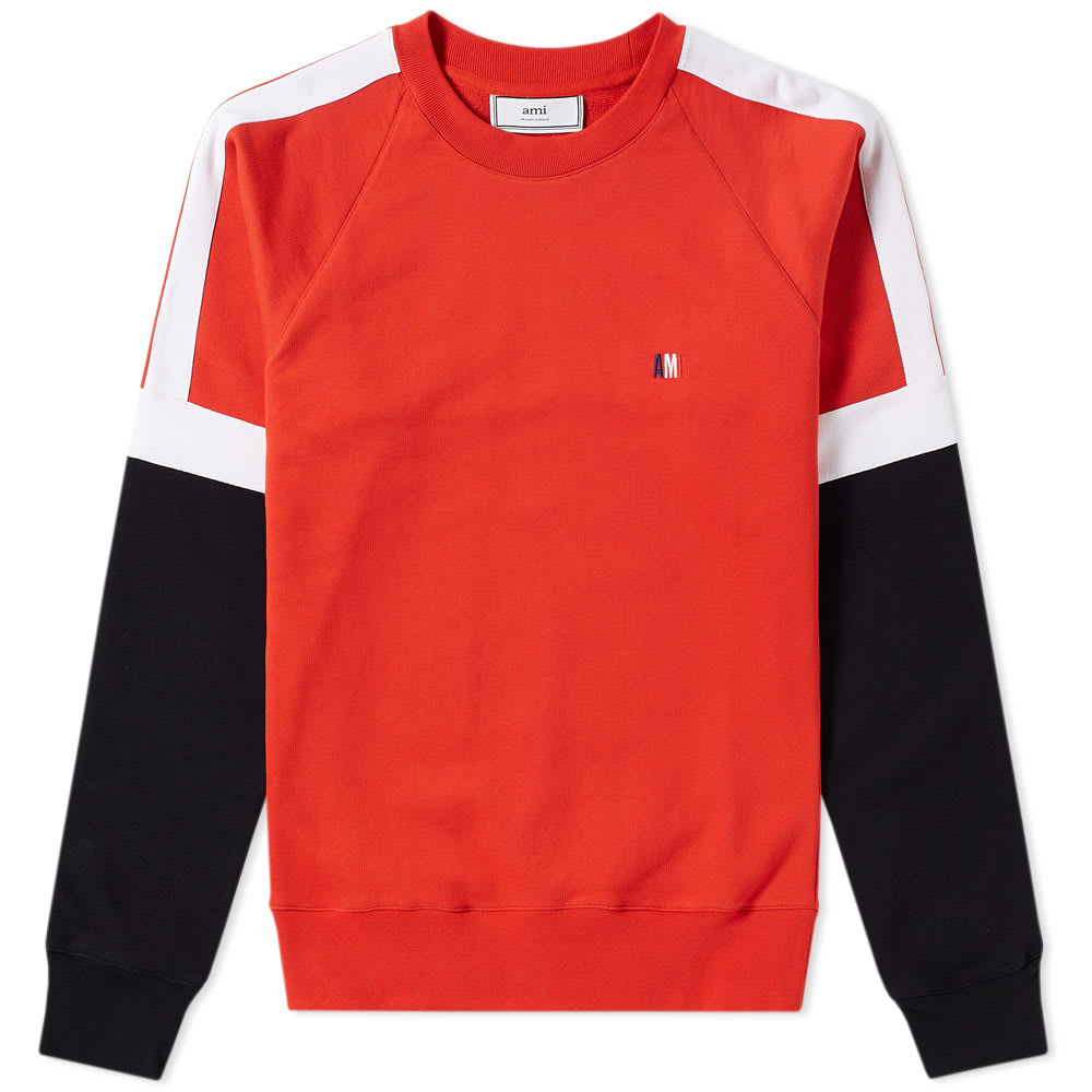 Photo: AMI Colour Block Crew Sweat
