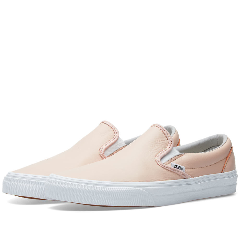 Photo: Vans Classic Slip On Leather Pink