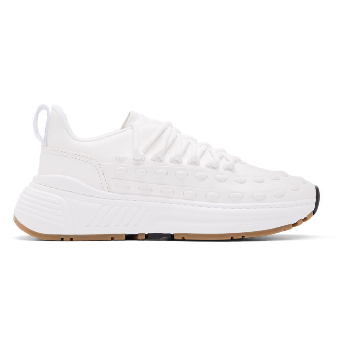 Photo: Bottega Veneta White Lace Speedster Sneakers
