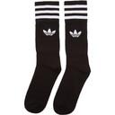 adidas Originals Three-Pack Black Solid Crew Socks