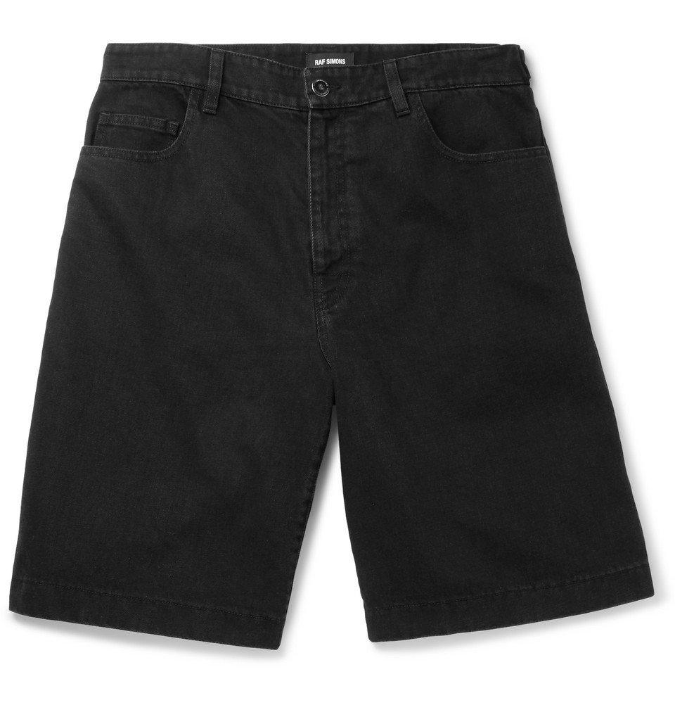 Raf Simons - Wide-Leg Denim Shorts - Men - Black