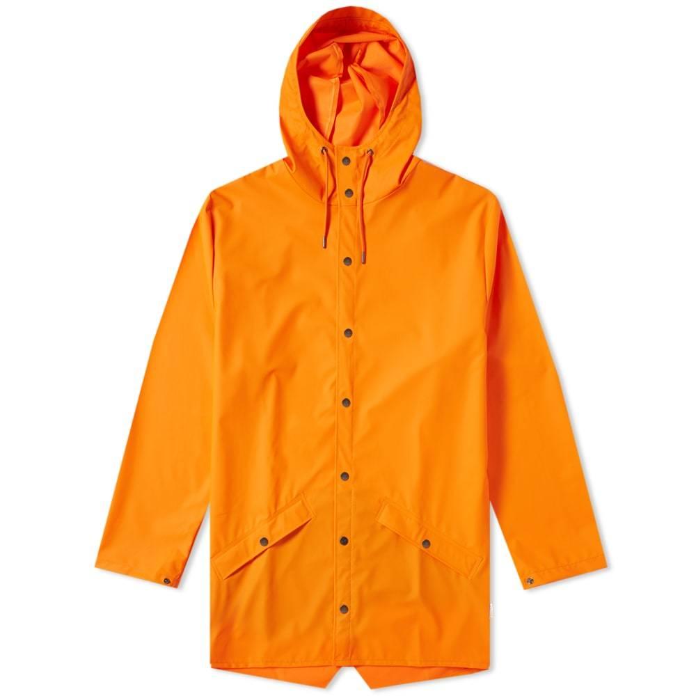 Photo: Rains Long Jacket Fire Orange