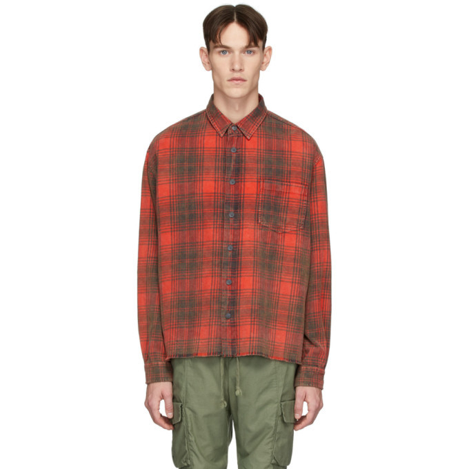 Photo: John Elliott Red Hemi Oversized Shirt