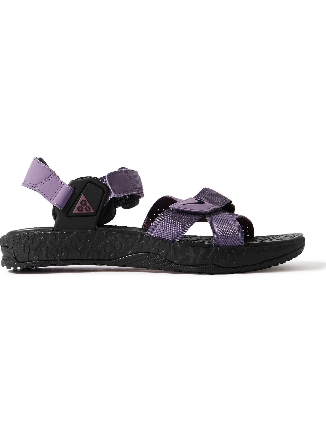 Photo: Nike - ACG Air Deschutz Nylon, Rubber and Neoprene Sandals - Purple