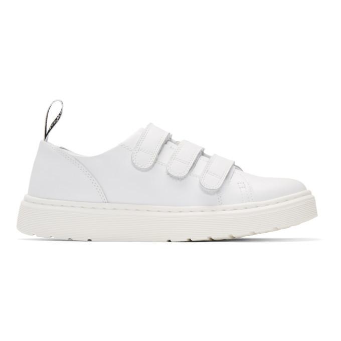 Dr. Martens White Dante Strap Sneakers