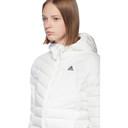 adidas Originals White Varilite Down Hooded Jacket