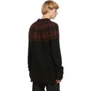 Raf Simons Black and Purple Wool Sweater