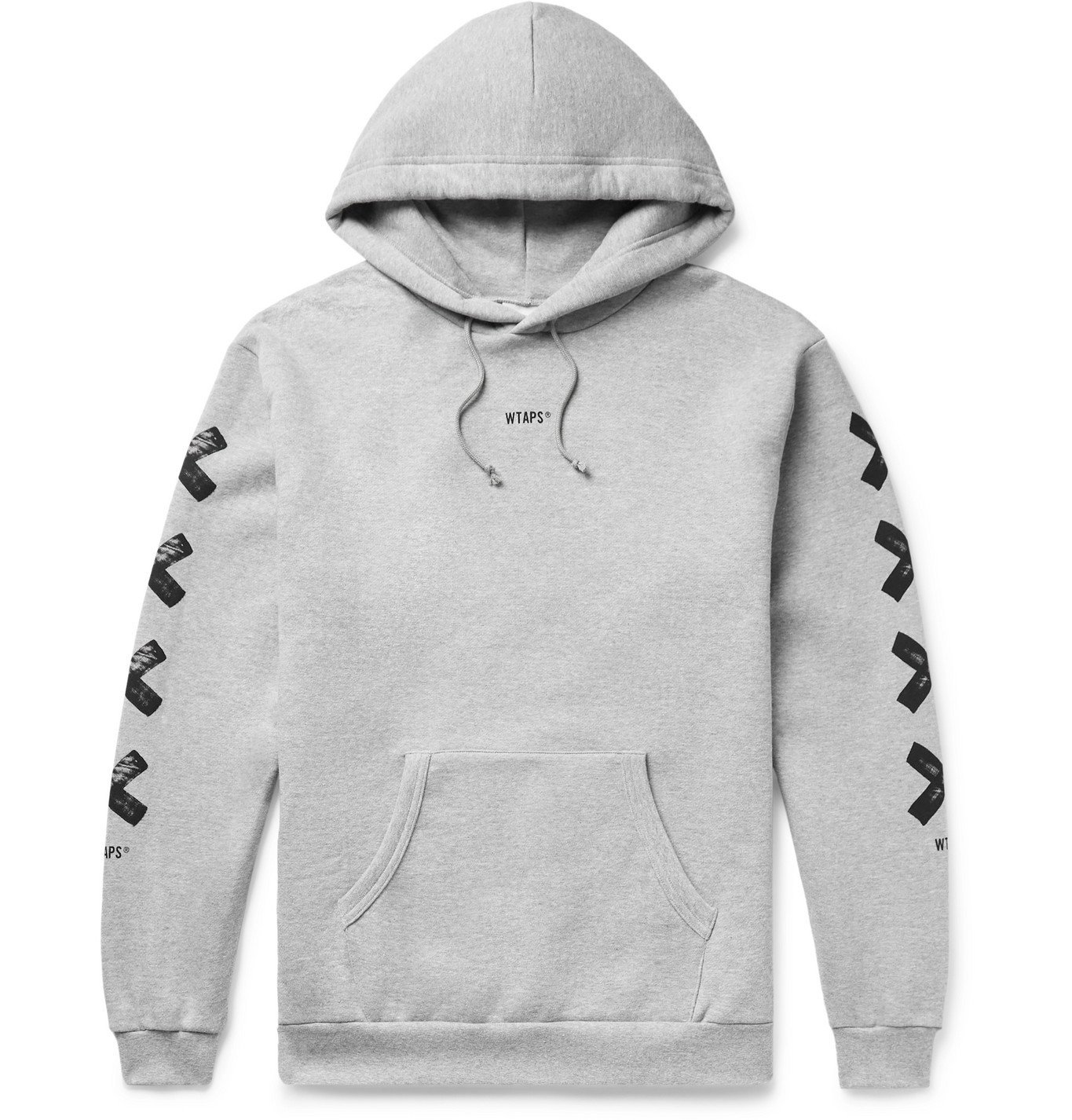 Photo: WTAPS - Printed Fleece-Back Cotton-Jersey Hoodie - Gray