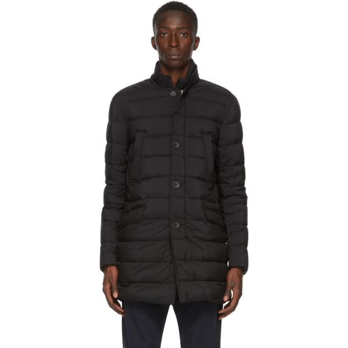 Photo: Herno Black Down Classic Blazer Jacket