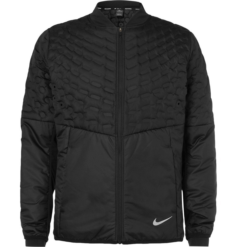Nike Running - AeroLoft Perforated Quilted Shell Jacket - Men - Black