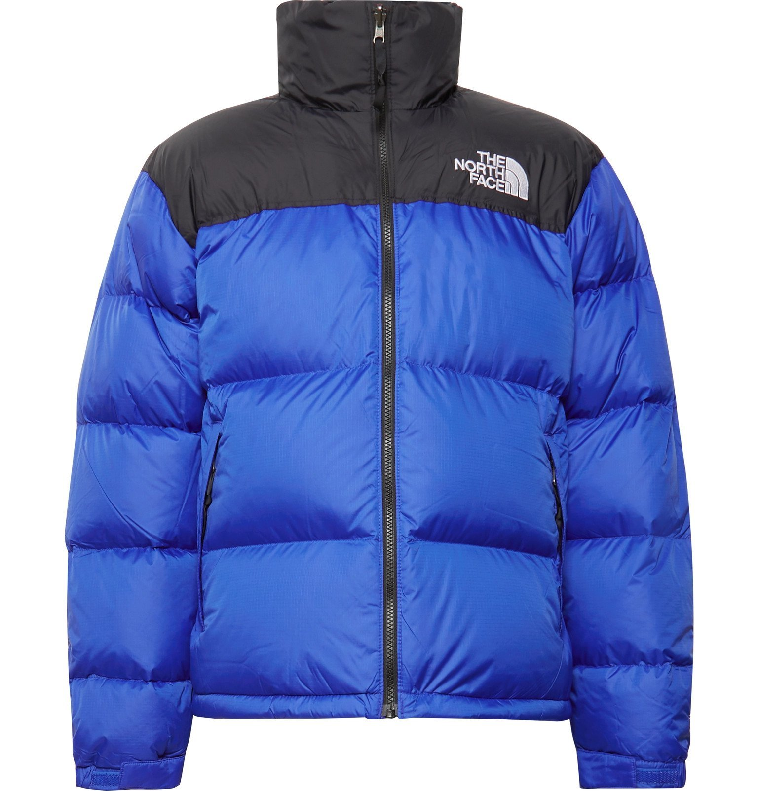 Photo: The North Face - 1996 Nuptse Colour-Block Quilted Nylon-Ripstop Down Jacket - Blue