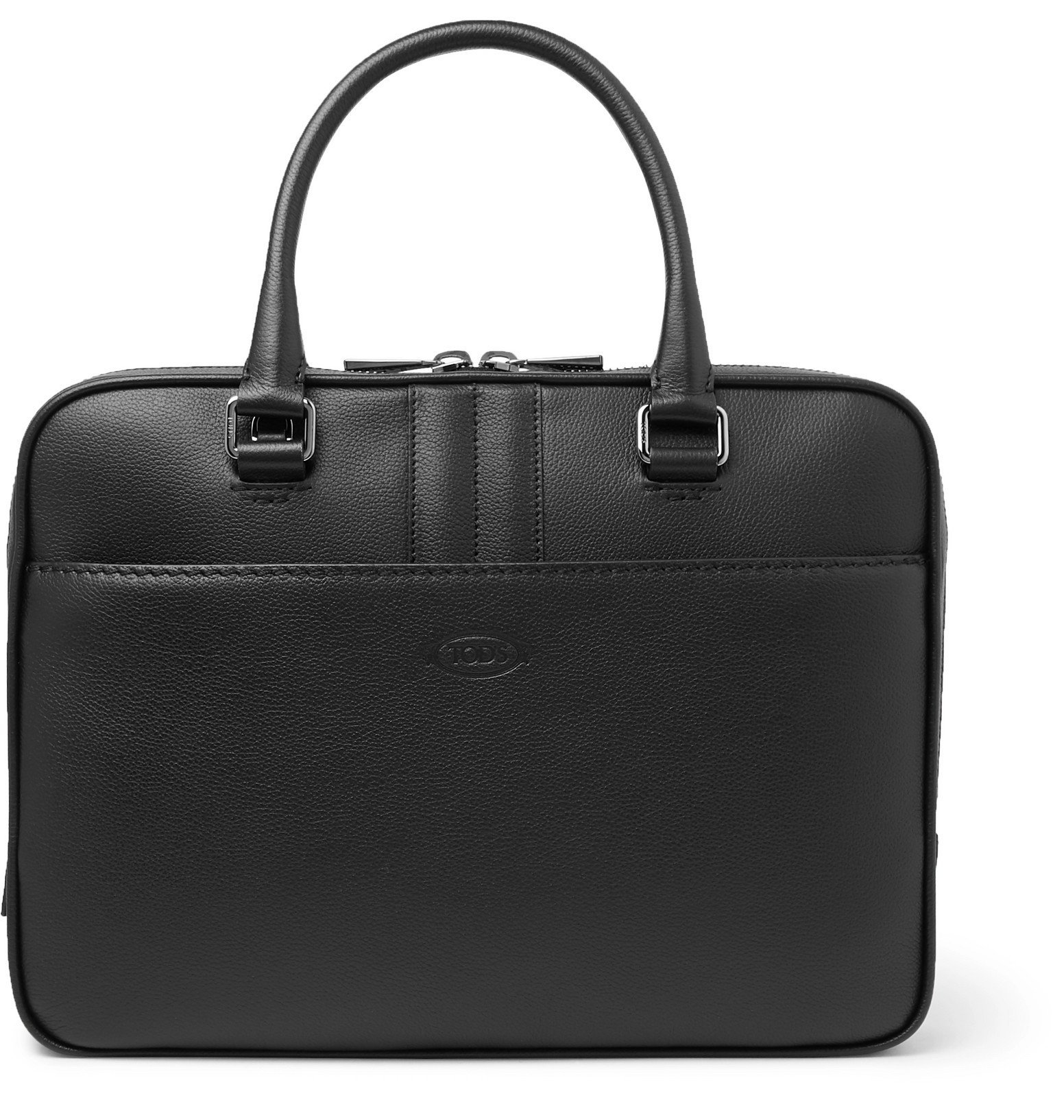 Photo: Tod's - Full-Grain Leather Briefcase - Black