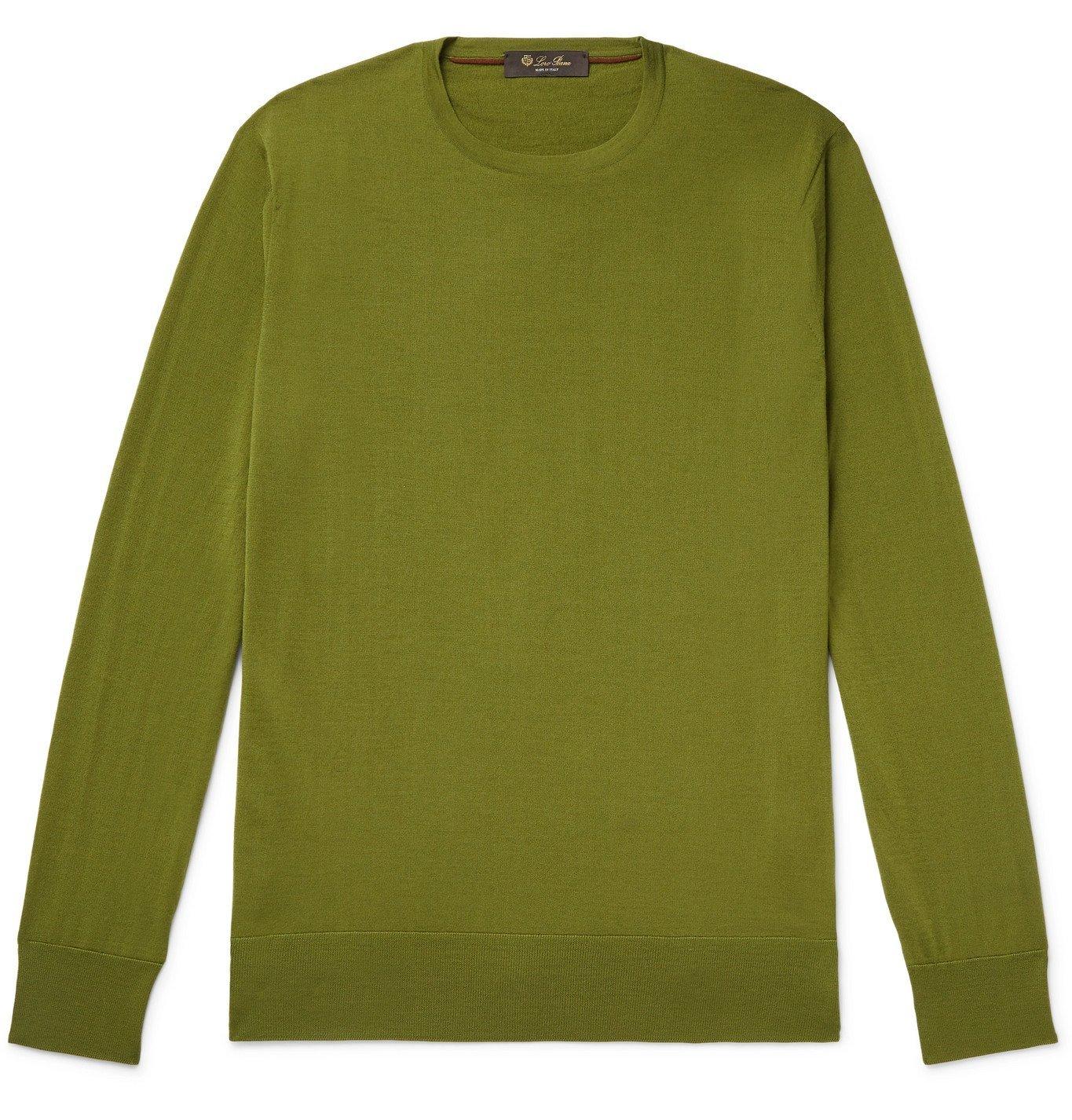 Photo: Loro Piana - Virgin Wool Sweater - Green