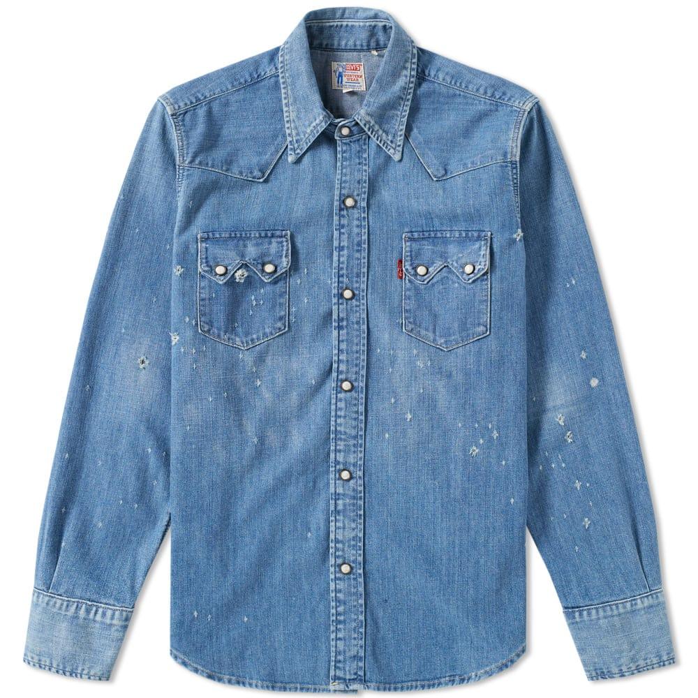 668f93b7 Levi's Vintage Clothing 1955 Sawtooth Denim Shirt Levi's Vintage