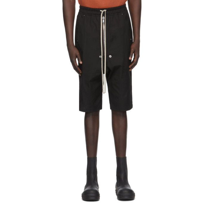 Photo: Rick Owens Black Bela Pods Shorts