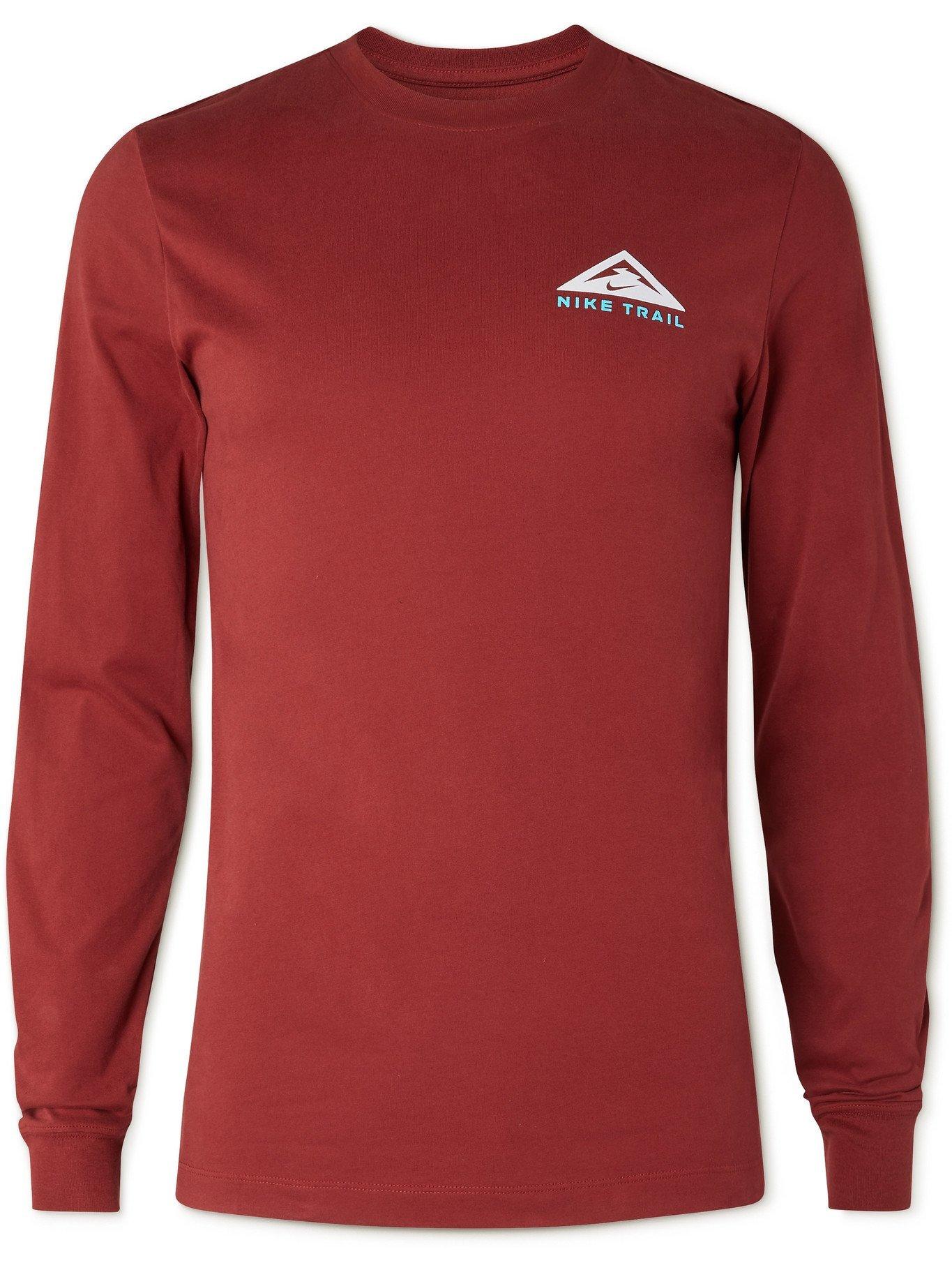 Photo: NIKE RUNNING - Trail Logo-Print Dri-FIT T-Shirt - Red
